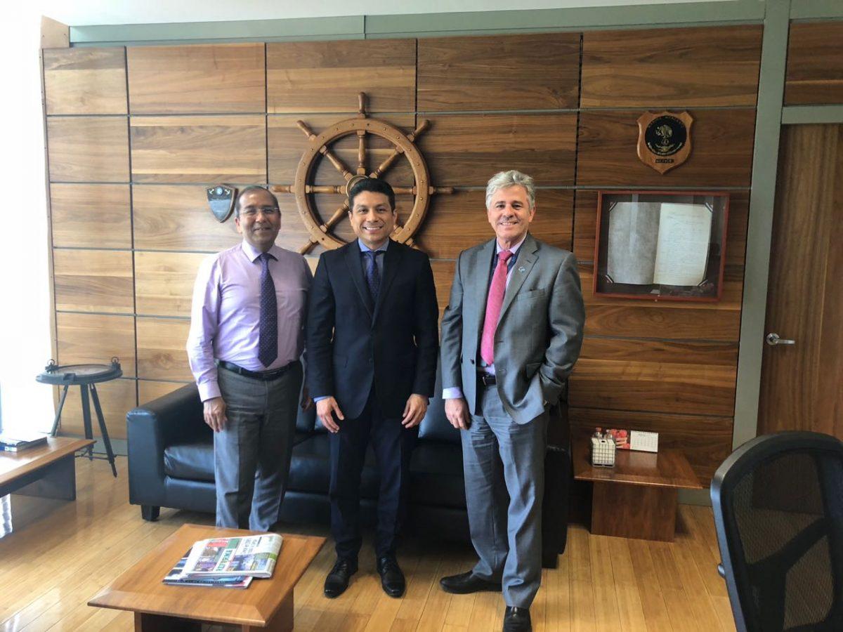 Reunión de trabajo con el director general de Puertos.