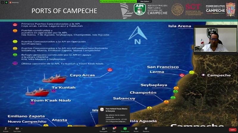 """DESTACA APICAM LOS PUERTOS DE CAMPECHE EN FORO """"MÉXICO ENERGY SERIES CHAPTER 2:  PORTS Y MARITIME SUMMIT"""
